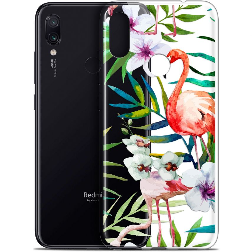 "Carcasa Gel Extra Fina Xiaomi Redmi Note 7 (6.3"") Watercolor Tropical Flamingo"