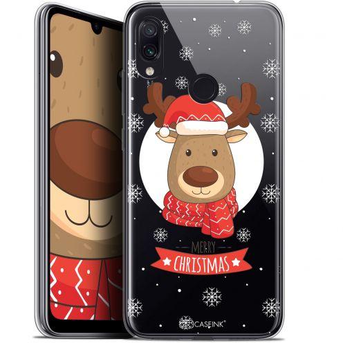 """Carcasa Gel Extra Fina Xiaomi Redmi Note 7 (6.3"""") Noël 2017 Cerf à Echarpe"""
