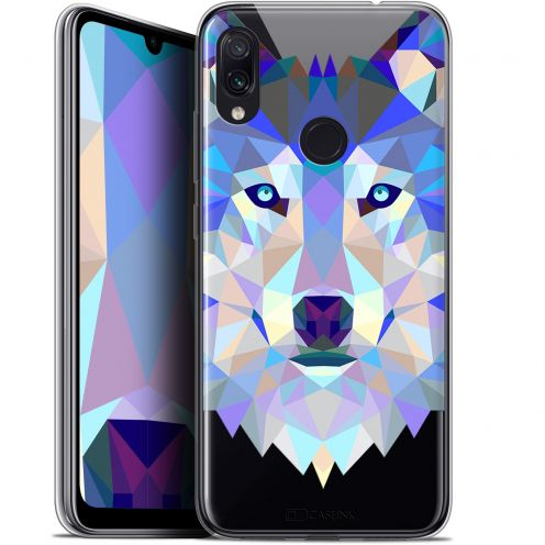 "Carcasa Gel Extra Fina Xiaomi Redmi Note 7 (6.3"") Polygon Animals Lobo"