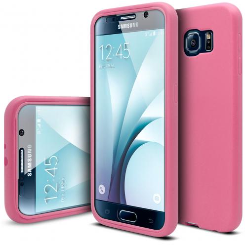 Carcasa Antigolpes Samsung Galaxy S6 Ultimate 360 Touch Gel Rosa