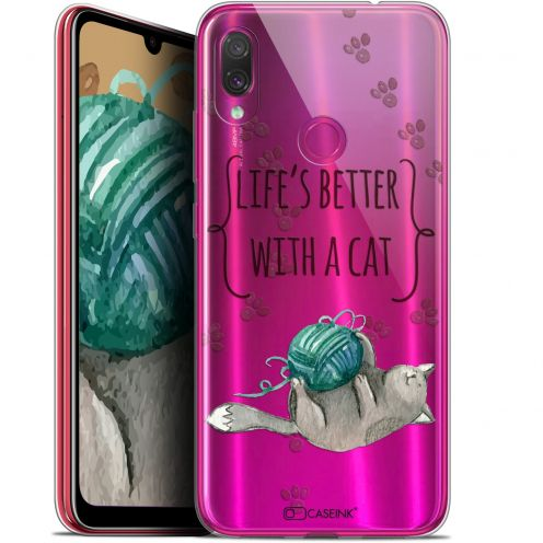 "Carcasa Gel Extra Fina Xiaomi Redmi Note 7 (6.3"") Quote Life's Better With a Cat"