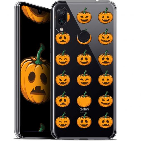 "Carcasa Gel Extra Fina Xiaomi Redmi Note 7 (6.3"") Halloween Smiley Citrouille"