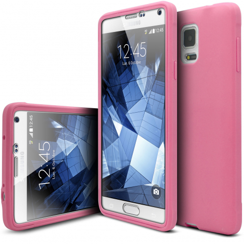 Carcasa Antigolpes Samsung Galaxy Note 4 Ultimate 360 Touch Gel Rosa