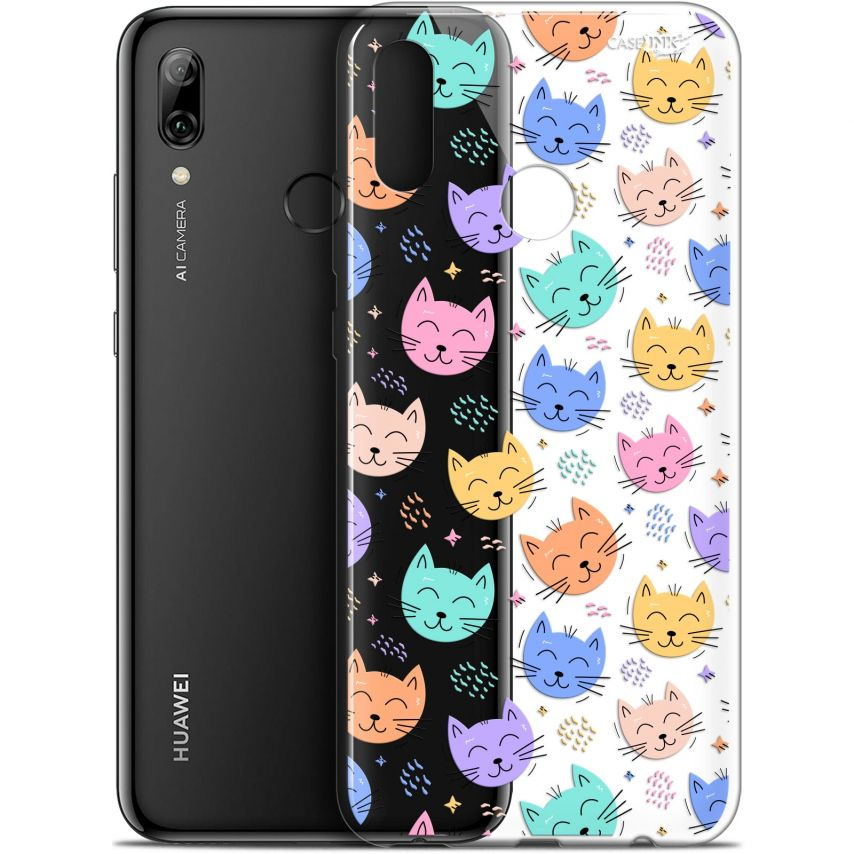 "Carcasa Crystal Gel Extra Fina Huawei P Smart 2019 (6.21"") Design Chat Dormant"