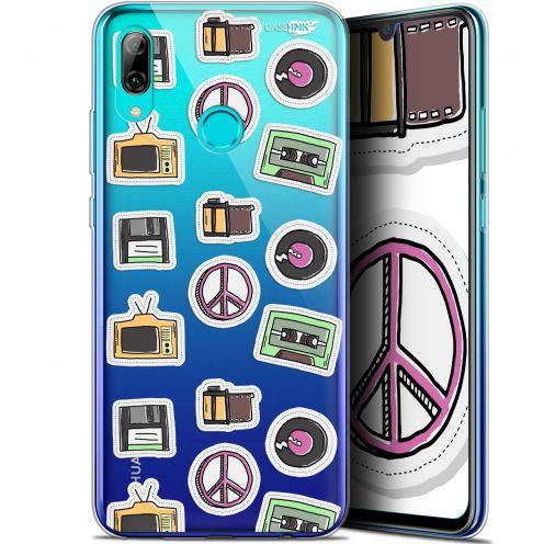 "Carcasa Crystal Gel Extra Fina Huawei P Smart 2019 (6.21"") Design Vintage Stickers"