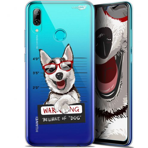 "Carcasa Crystal Gel Extra Fina Huawei P Smart 2019 (6.21"") Design Beware The Husky Dog"