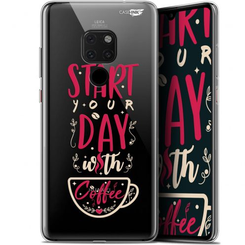 "Carcasa Crystal Gel Extra Fina Huawei Mate 20 (6.5"") Design Start With Coffee"
