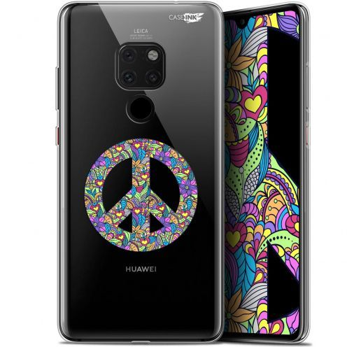 "Carcasa Crystal Gel Extra Fina Huawei Mate 20 (6.5"") Design Peace And Love"
