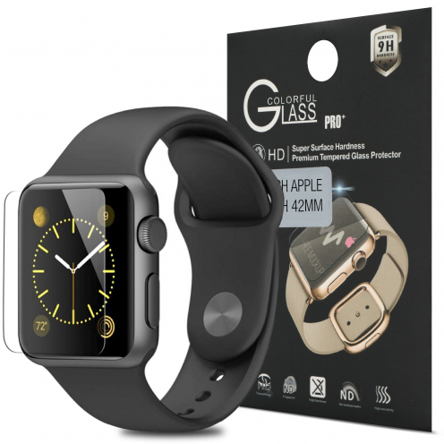 Protección de pantalla de vidrio templado Apple iWatch 42mm Glass Pro+ 9H Ultra HD 0.33mm