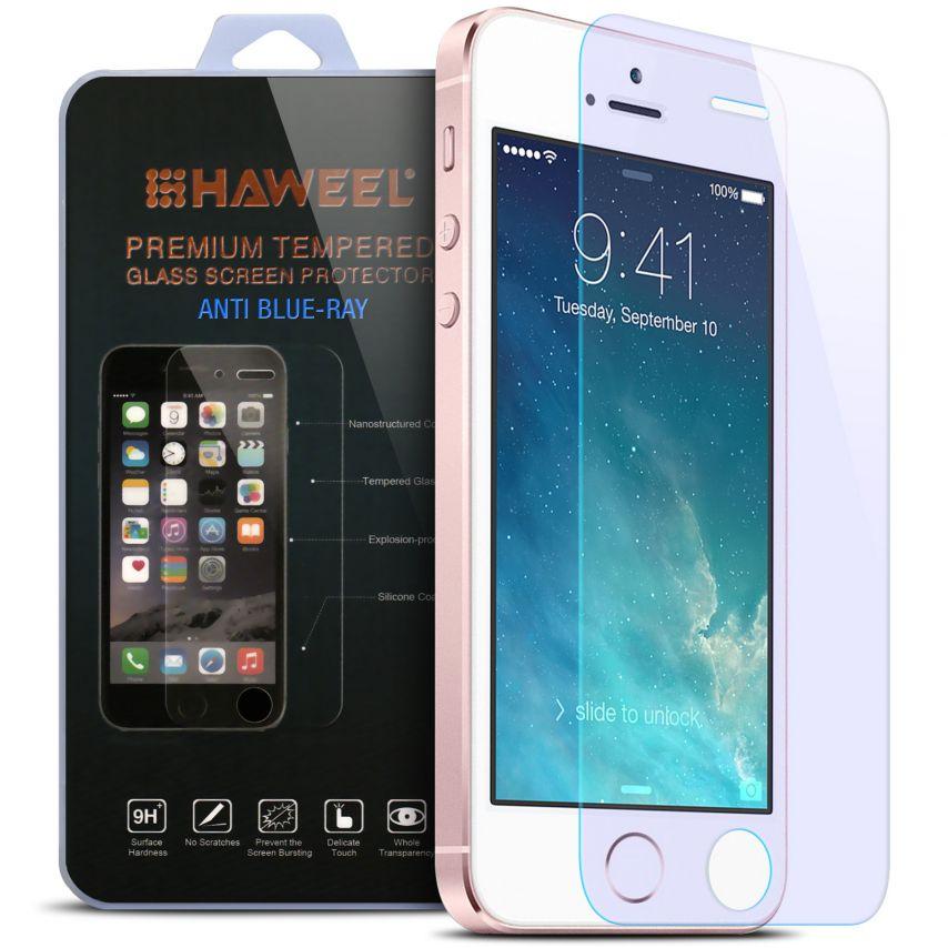 Protección de pantalla de vidrio templado Apple iPhone 5/5s/SE Anti Blue Ray 9H Ultra HD 0.33mm