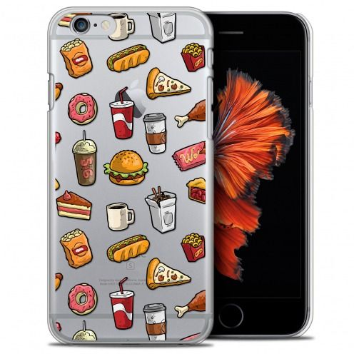 Carcasa Crystal Extra Fina iPhone 6/6s Plus 5.5 Foodie Fast Food