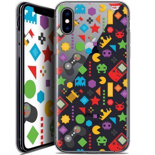Carcasa Crystal Gel Extra Fina Apple iPhone X (10) Design PacMan