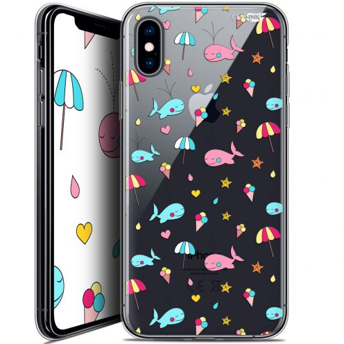 Carcasa Crystal Gel Extra Fina Apple iPhone X (10) Design Baleine à la Plage