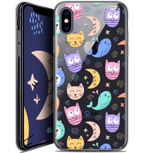 Carcasa Crystal Gel Extra Fina Apple iPhone X (10) Design Chat Hibou