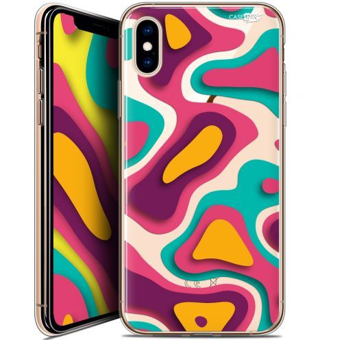 Carcasa Crystal Gel Extra Fina Apple iPhone X (10) Design Popings