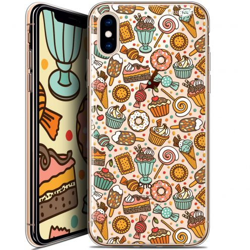 Carcasa Crystal Gel Extra Fina Apple iPhone X (10) Design Bonbons