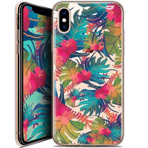 Carcasa Crystal Gel Extra Fina Apple iPhone X (10) Design Couleurs des Tropiques