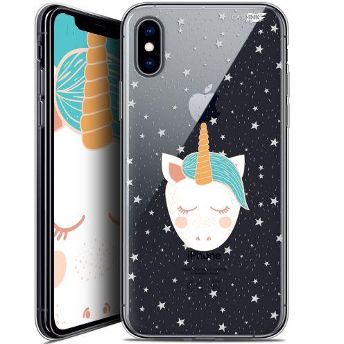Carcasa Crystal Gel Extra Fina Apple iPhone X (10) Design Licorne Dors