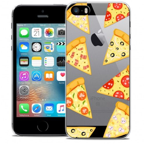 Carcasa Crystal Extra Fina iPhone 5/5s/SE Foodie Pizza