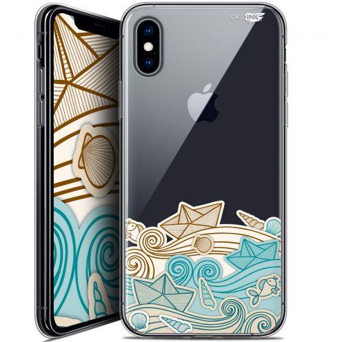 Carcasa Crystal Gel Extra Fina Apple iPhone X (10) Design Bateau de Papier