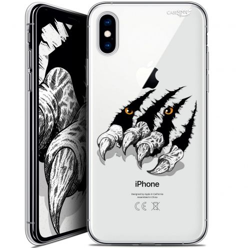 Carcasa Crystal Gel Extra Fina Apple iPhone X (10) Design Les Griffes
