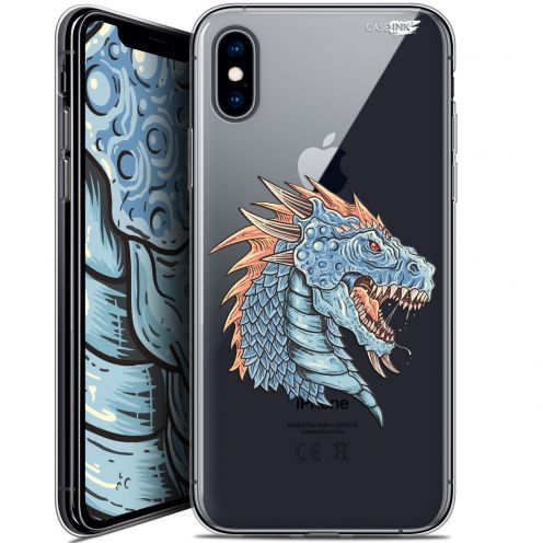 Carcasa Crystal Gel Extra Fina Apple iPhone X (10) Design Dragon Draw