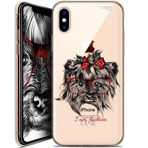 Carcasa Crystal Gel Extra Fina Apple iPhone X (10) Design Fashion Dog