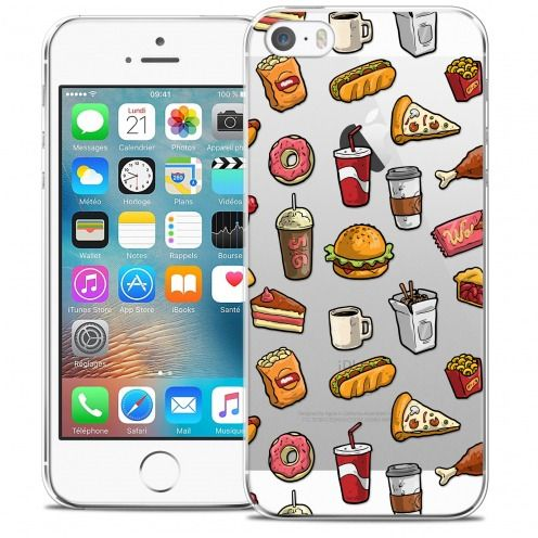 Carcasa Crystal Extra Fina iPhone 5/5s/SE Foodie Fast Food