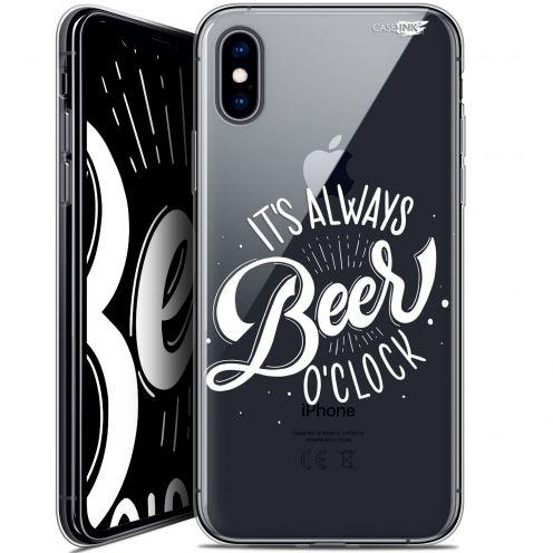 Carcasa Crystal Gel Extra Fina Apple iPhone X (10) Design Its Beer O'Clock