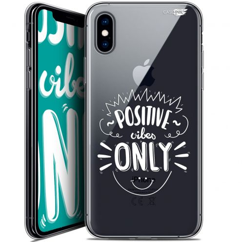Carcasa Crystal Gel Extra Fina Apple iPhone X (10) Design Positive Vibes Only