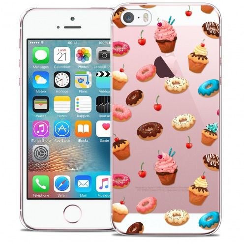 Carcasa Crystal Extra Fina iPhone 5/5s/SE Foodie Donuts