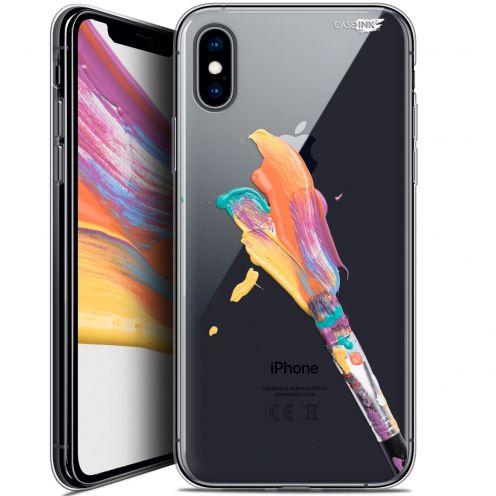 Carcasa Crystal Gel Extra Fina Apple iPhone X (10) Design Pinceau de Peinture