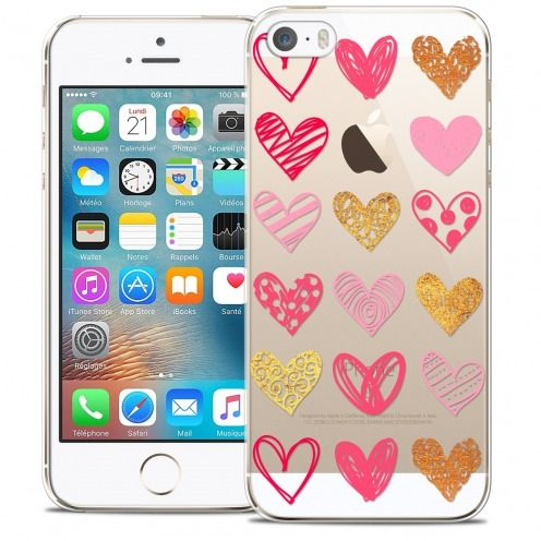 Carcasa Crystal Extra Fina iPhone 5/5s/SE Sweetie Doodling Hearts
