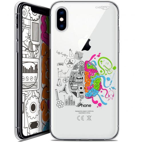 Carcasa Crystal Gel Extra Fina Apple iPhone X (10) Design Le Cerveau