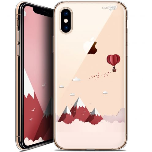 Carcasa Crystal Gel Extra Fina Apple iPhone X (10) Design Montagne En Montgolfière