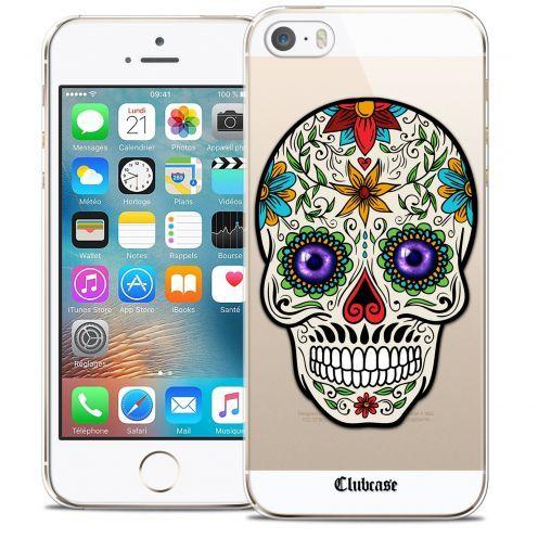 Carcasa Crystal Extra Fina iPhone 5/5s/SE Skull Maria's Flower
