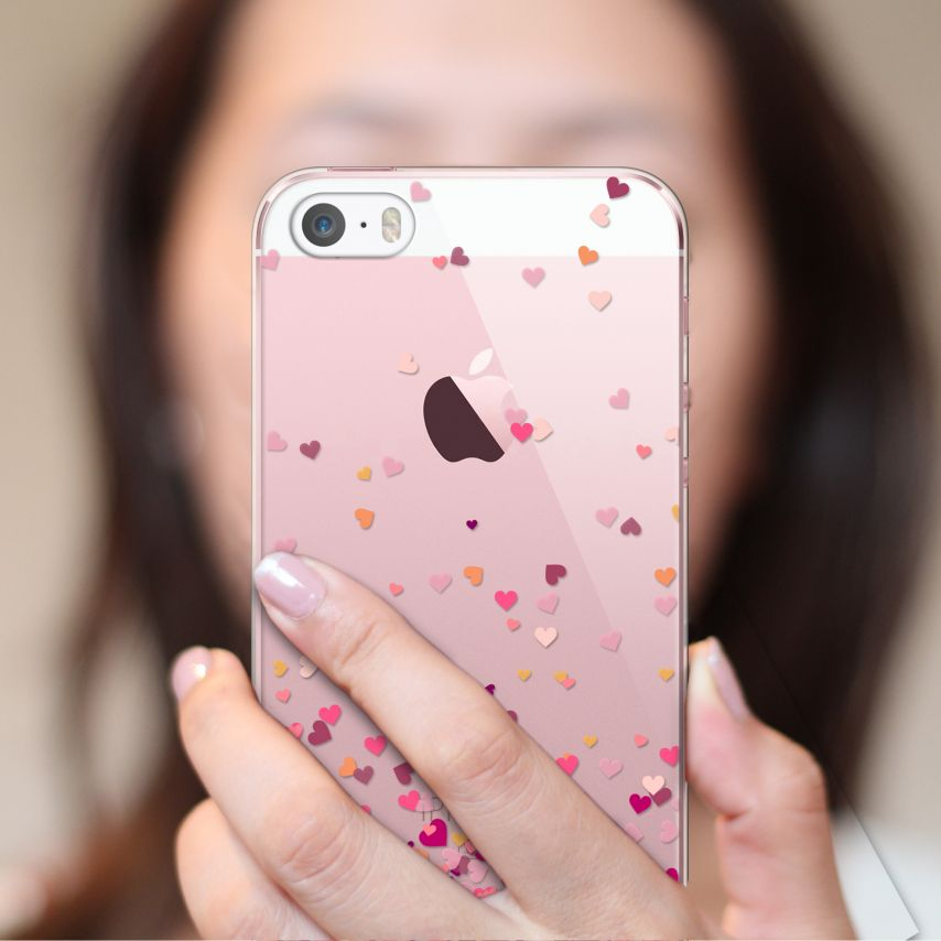 Carcasa Crystal Extra Fina iPhone 5/5s/SE Sweetie Heart Flakes