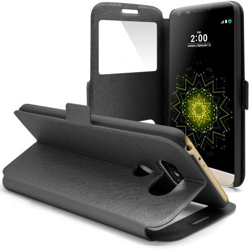 Funda LG G5 Slim Folio Window View - Negro
