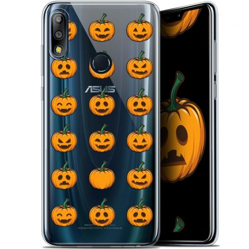 "Carcasa Gel Extra Fina Asus Zenfone Max Pro (M2) ZB631KL (6.26"") Halloween Smiley Citrouille"