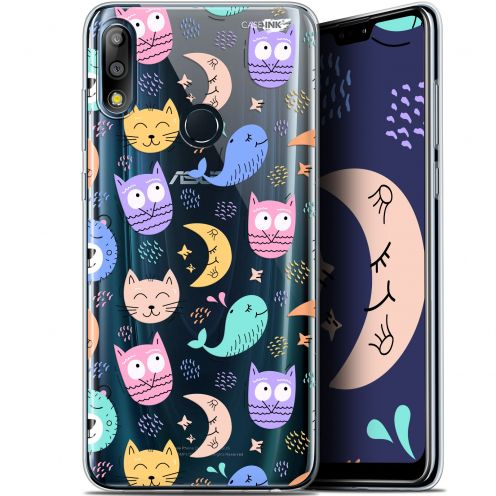 "Carcasa Gel Extra Fina Asus Zenfone Max Pro (M2) ZB631KL (6.26"") Design Chat Hibou"