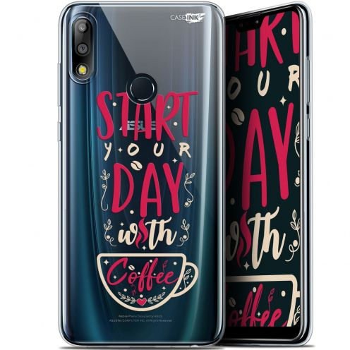 """Carcasa Gel Extra Fina Asus Zenfone Max Pro (M2) ZB631KL (6.26"""") Design Start With Coffee"""