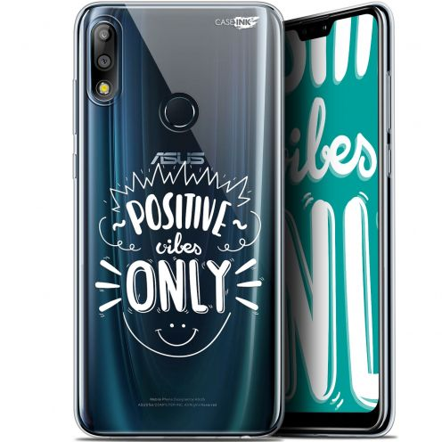 "Carcasa Gel Extra Fina Asus Zenfone Max Pro (M2) ZB631KL (6.26"") Design Positive Vibes Only"