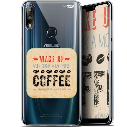 "Carcasa Gel Extra Fina Asus Zenfone Max Pro (M2) ZB631KL (6.26"") Design Wake Up With Coffee"