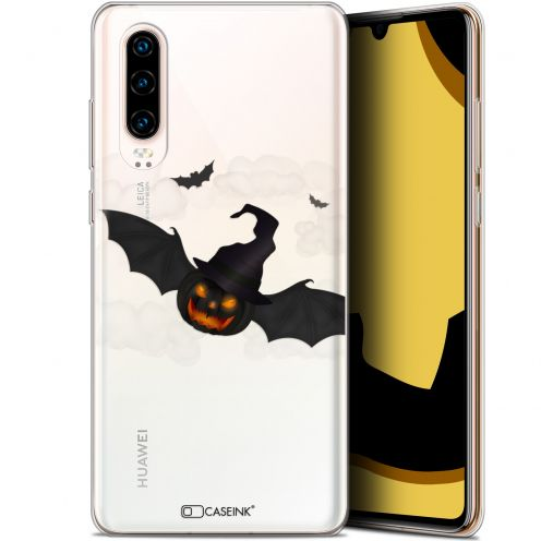 "Carcasa Gel Extra Fina Huawei P30 (6.1"") Halloween Chauve Citrouille"