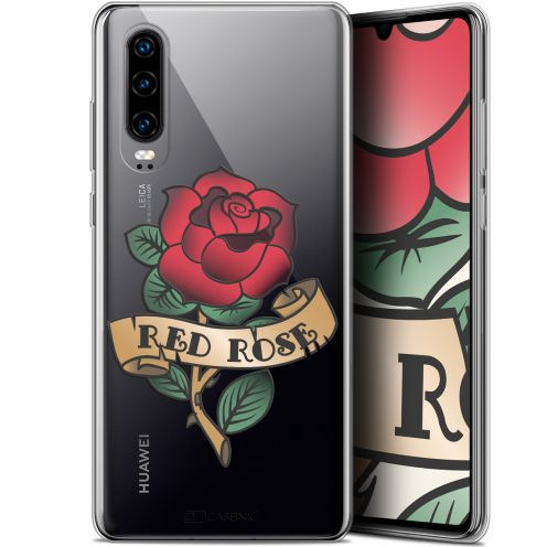 "Carcasa Gel Extra Fina Huawei P30 (6.1"") Tatoo Lover Red Rose"