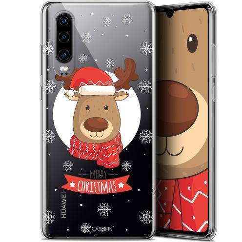 """Carcasa Gel Extra Fina Huawei P30 (6.1"""") Noël 2017 Cerf à Echarpe"""