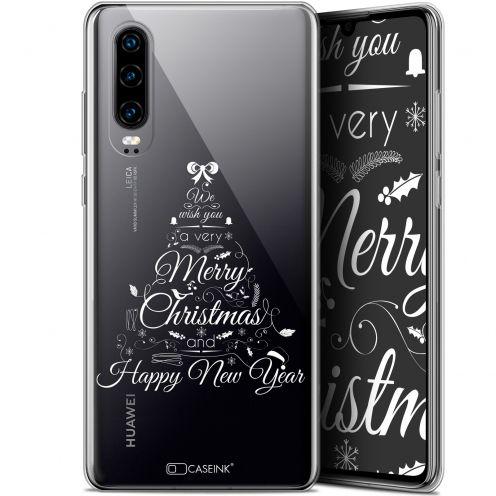 "Carcasa Gel Extra Fina Huawei P30 (6.1"") Noël 2017 Calligraphie"