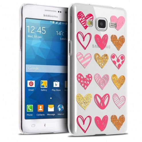 Carcasa Crystal Extra Fina Galaxy Grand Prime Sweetie Doodling Hearts