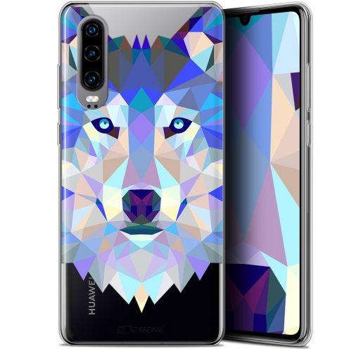 "Carcasa Gel Extra Fina Huawei P30 (6.1"") Polygon Animals Lobo"