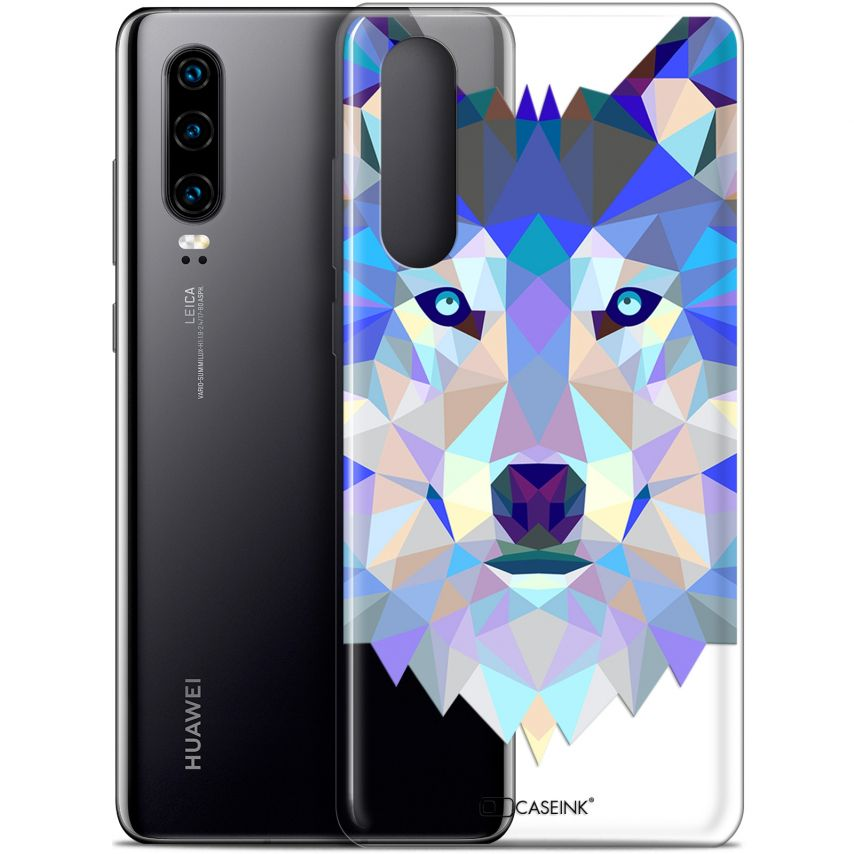 "Carcasa Gel Extra Fina Huawei P30 (6.1"") Polygon Animals Lobo"